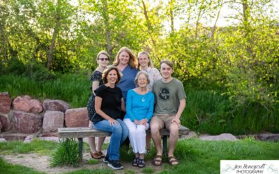 The {H} family photo session at DeKoevend park in Centennial at sunset by Littleton photographer