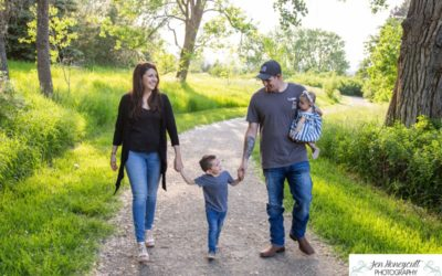 The {S} family of 4 at Fly'N B park in Highlands Ranch by local Littleton photographer